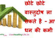 छोटे छोटे वास्तुदोष ला सकते है - आपके धन की कमी - Vastu Tips for Wealth – Gain Money & Get Rich