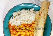 Chickpeas/ Garbanzo beans Curry - chhole chawal
