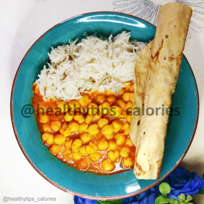 Chickpeas/ Garbanzo beans Curry - chhole chawal